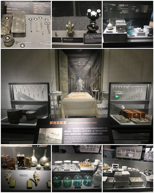Medical Equipments used for Dissection at Unit 731 Museum at Harbin in Heilongjiang province of China