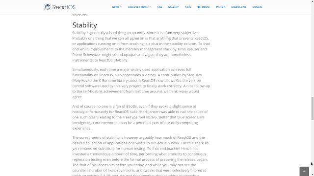 Nota da equipe do ReactOS sobre estabilidade do WinBtrfs