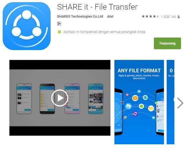 6 aplikasi Android terbaik transfer file dengan sekejap - ShareIt