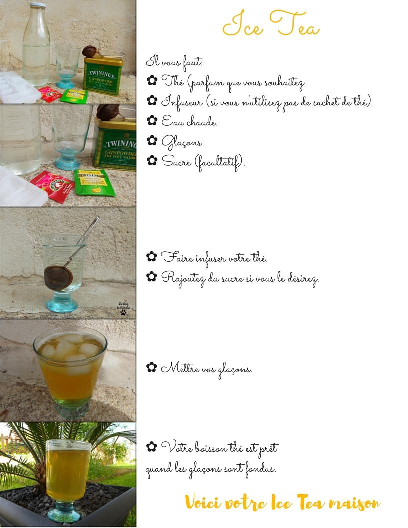 recette facile Ice tea maison