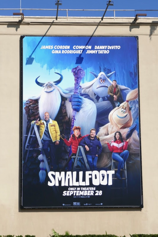 Smallfoot movie voice talent billboard WB Studios
