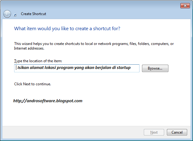 gambar create shortcut windows seven