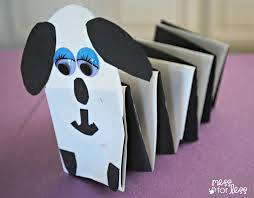 Idea to make dog from folding paper for kids