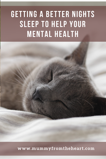 Getting a better nights sleep tp help your mental health pin