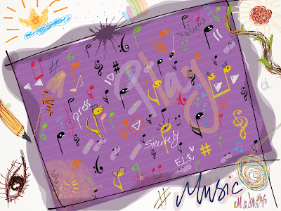 music notes, music, logo, music logo, music madness, sketch, drawing, The Book Portal