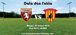Data dan Fakta Liga Fantasia Serie A Torino vs Benevento Fantasi Manager Indonesia