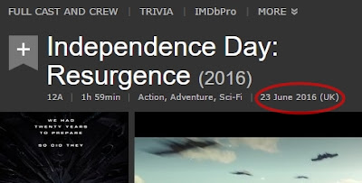 Release date Independence Day: Resurgence