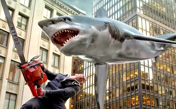 Sharknado 2 The Second One Ian Ziering chainsaw shark