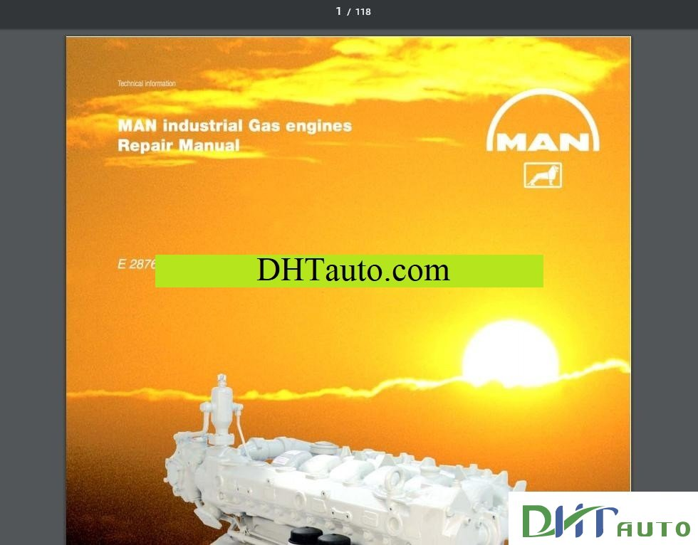 man industrial gas engine e 2876 le 302 service repair workshop manual download