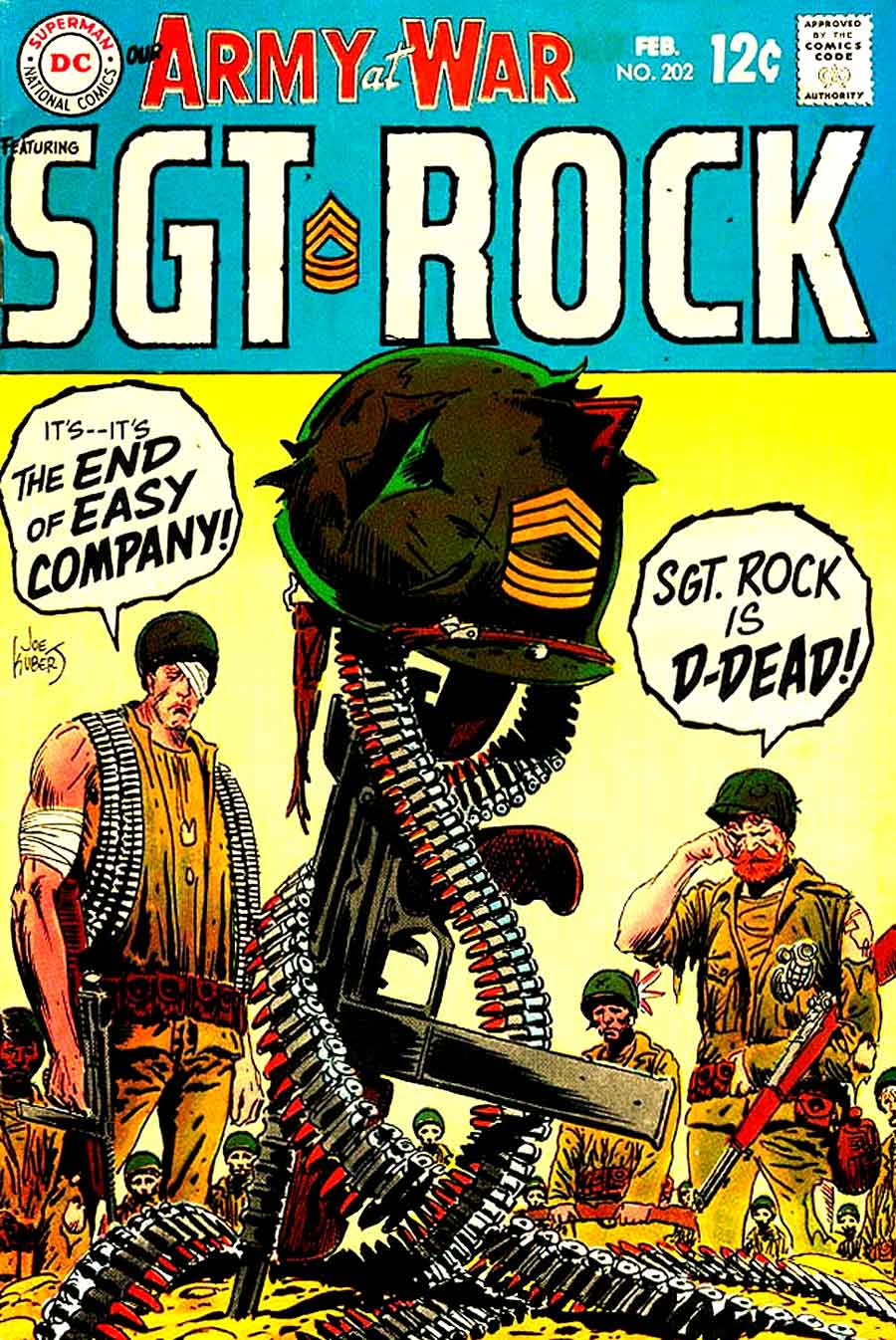 Simple Comic Book Covers : Our army at war joe kubert art cover pencil ink