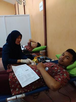 Dokumentasi Donor Darah Sukarela di SMA Negeri 5 Purwokerto Mazzajie
