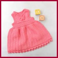 Vestido de punto para nenas