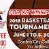 REMINDER: PBA Hosting Open Club Basketball Tourney for Males & Females Born 2009 to Open Age June 1-3 at Garden City