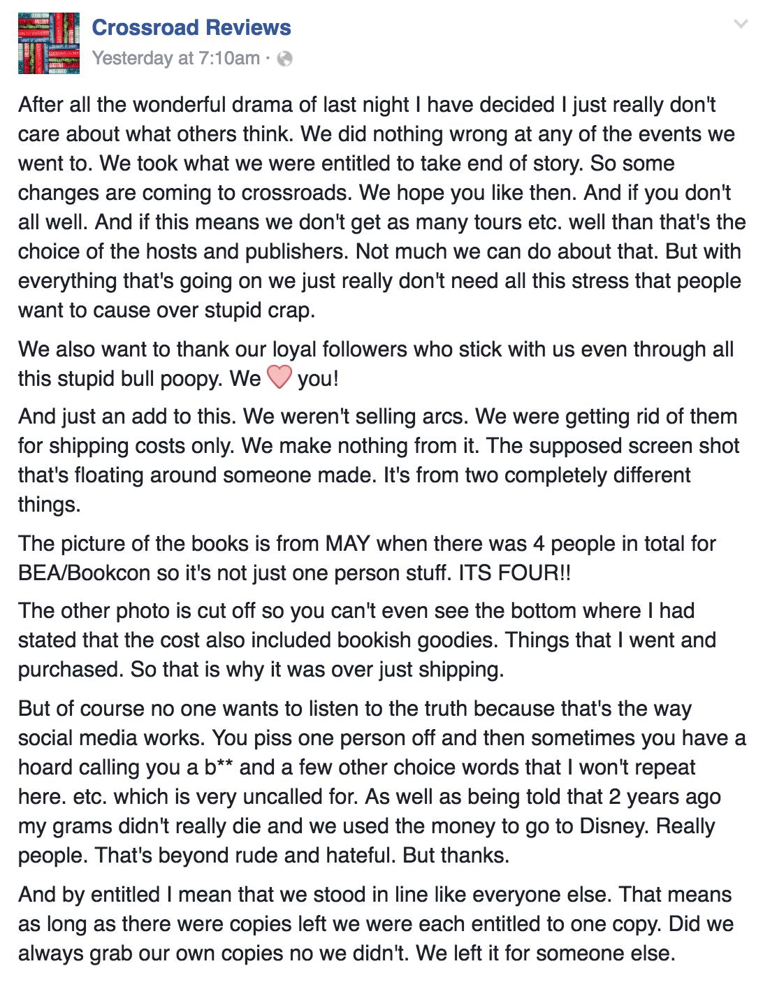 Jessica Porter, Scamming Book Blogger