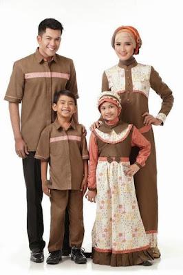 ontoh baju muslim keluarga seragam
