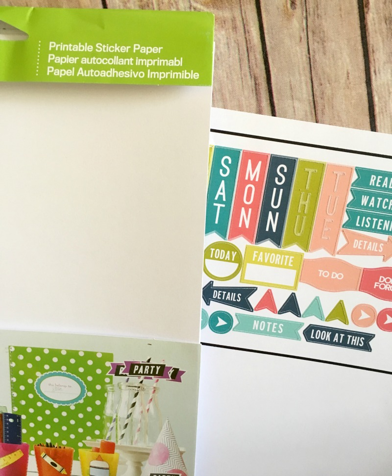 Did you know that you can make planner stickers with your cricut choose from standard