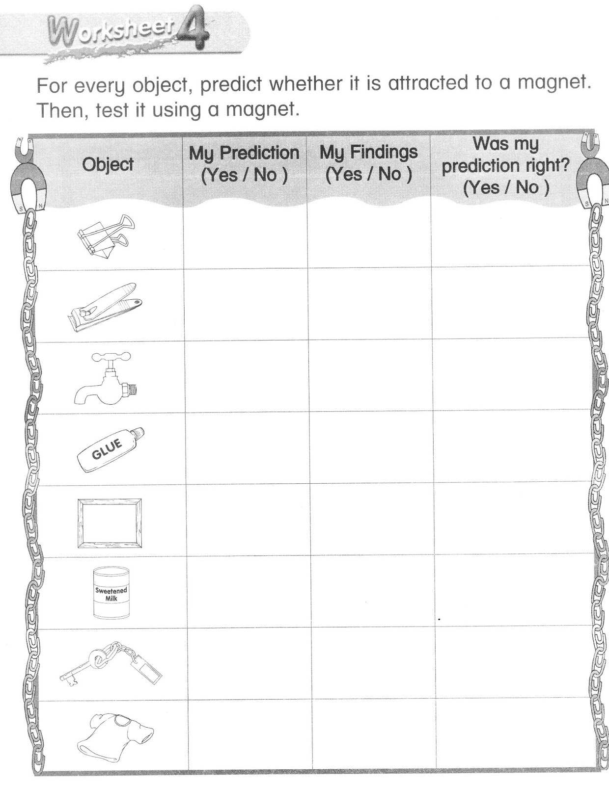 Science Magnet Worksheets