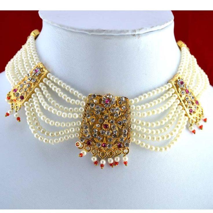 Rajputi Culture Rajputi Jewellery Set Of Three Necklaces