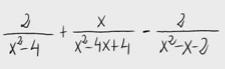 2.Suma de fracciones algebraicas 2