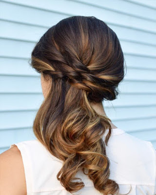peinado suelto elegante para fiesta de gala