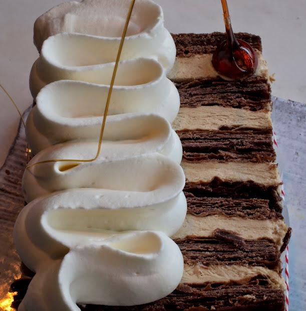 Chocolate-praline Napoleons Study In Puff Pastry