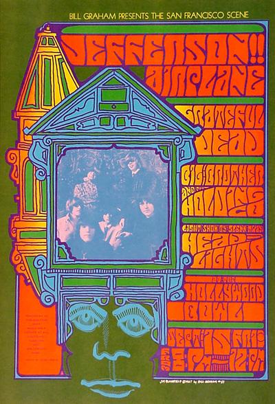 1967 Vintage Concert Poster Elysian Park Love-in