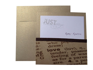 Gold pearlized wedding invitations A818