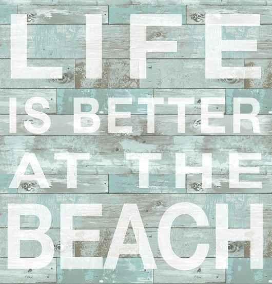Wall Sticker Beach Sign