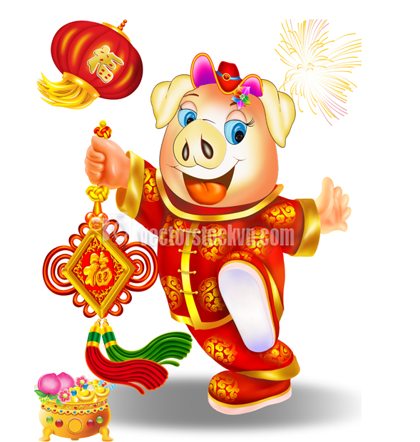 Happy Chinese New Year Vector Design 2019