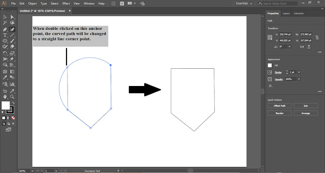 Curvature Tool in Adobe Illustrator