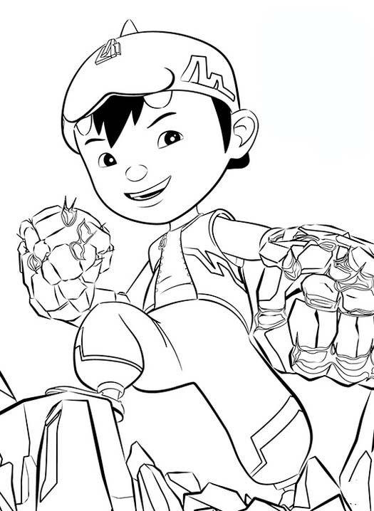 Tranh cho bé tô màu BoBoiBoy 8
