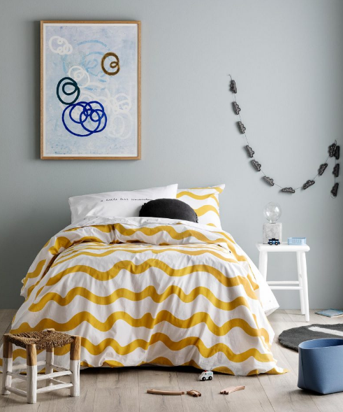 Beautiful yellow bedroom design