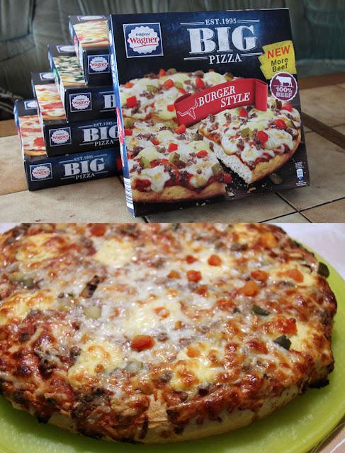 Original Wagner Big Pizza Burger Style - Verpackung & aufgebacken