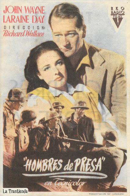 Hombres de Presa - Programa de mano - John Wayne - Laraine Day