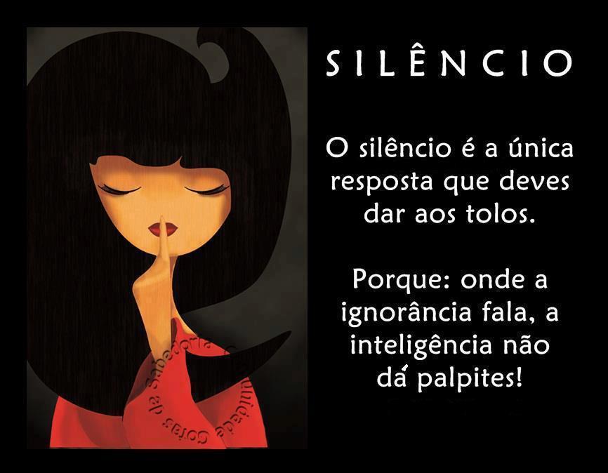 B L O G Do A N É Z I O R I B E I R O: O Silêncio Como Resposta