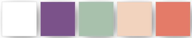 Combinaison de couleurs Stampin' up! utilisées pour ce projet