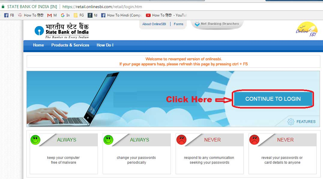 sbi global internet banking
