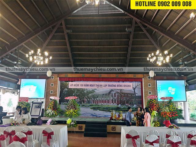 Cho thuê máy chiếu tại khu du lịch Văn Thánh quận Bình Thạnh