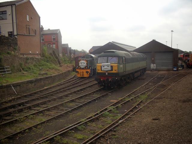 engine on train tracks