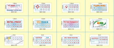 mẫu tem bảo hành hình chữ nhật