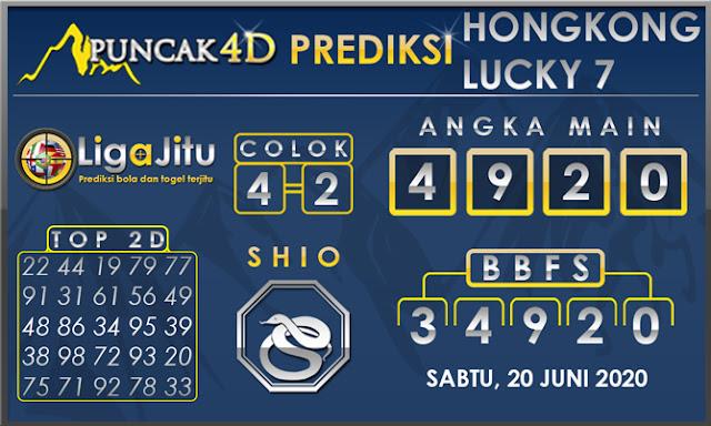 PREDIKSI TOGEL HONGKONG LUCKY 7 PUNCAK4D 20 JUNI 2020