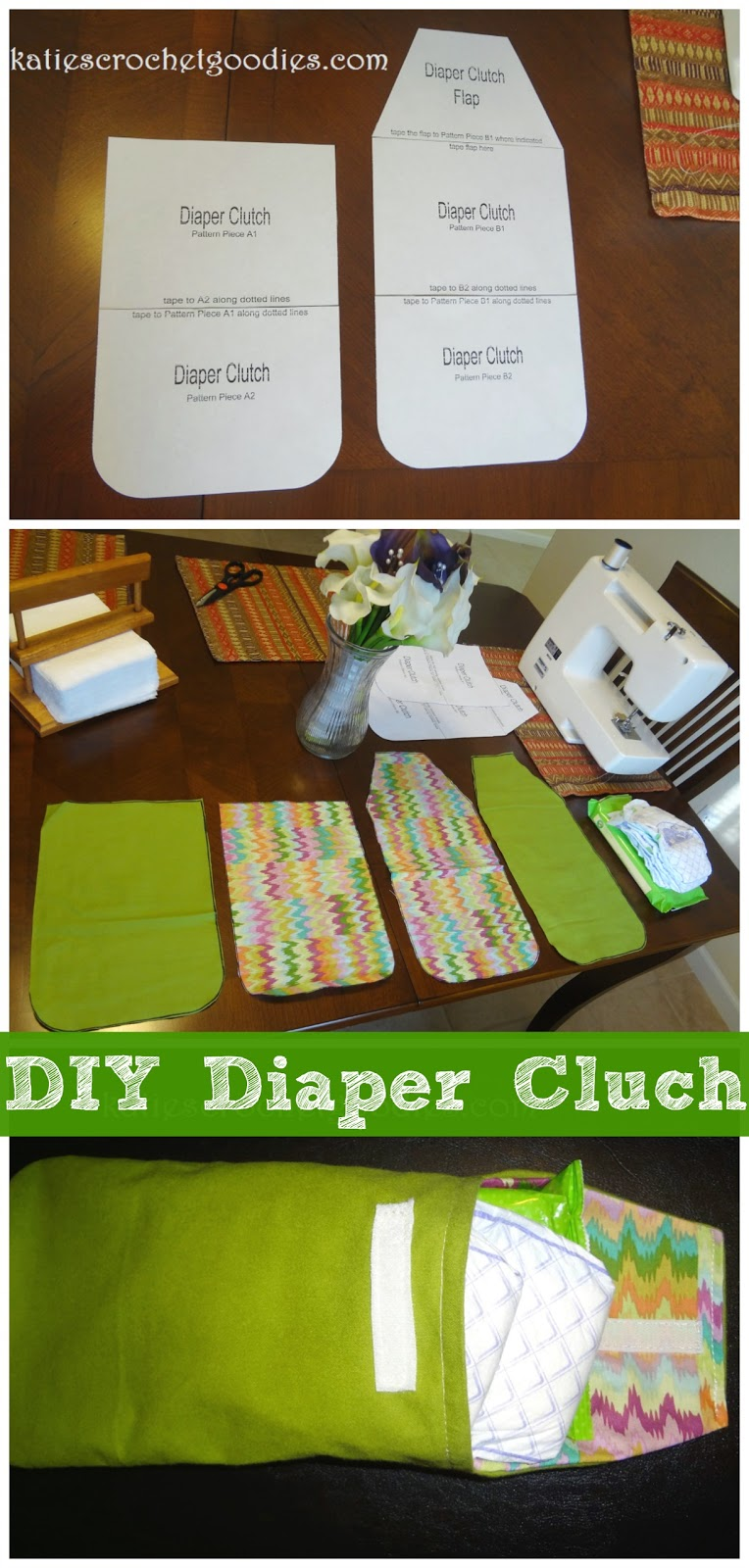 Diy Diaper Clutch Tutorial Katie S Crochet Goodies
