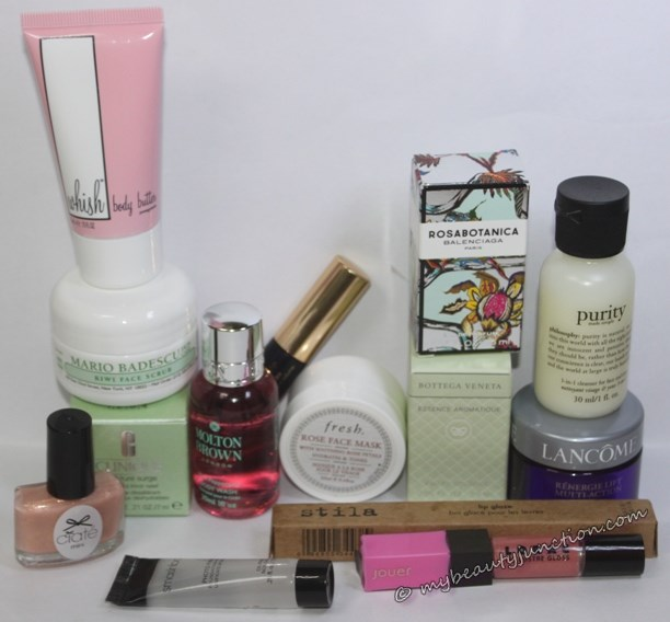 Hautelook summer 2014 beauty bag unboxing review contents