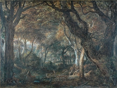 Photograph of picture: Title: A scene in Windsor Forest 1801 Artist: Paul Sandby (1731-1809) Image copyright of the Hamilton Gallery reproduced here with permission