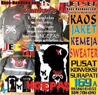 Pusat Konveksi Bikin kaos sablon slank murah di kota Bandung