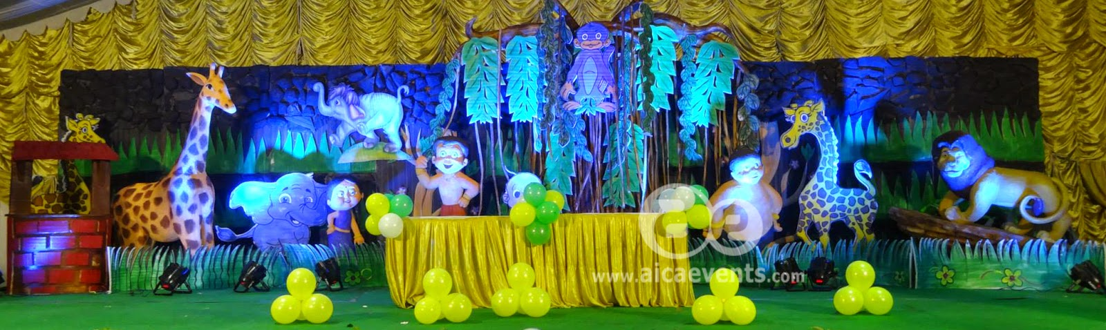 Aicaevents India Chhota Bheem Theme Party Decorations