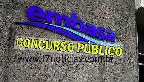 Resultado de imagem para concurso da Embasa F7 NOTICIAS