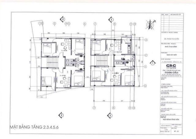 Mặt bằng tầng 2 đến tầng 6 chung cư Minh Đại Lộc 4