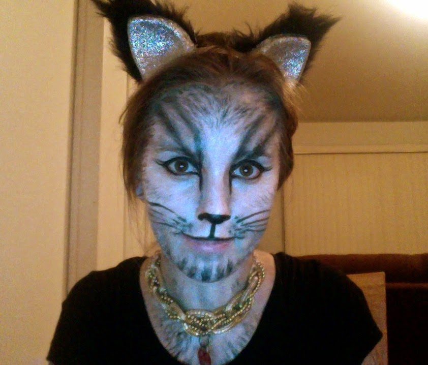 cat, halloween, face paint, diy