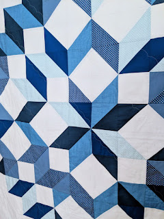 Snow Crystal quilt pattern by Pam And Nicky Lintott made by Lucy Brennan Charm About You hst half square triangles